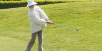Pauline au golf