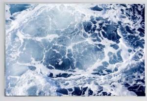 David Ancelin, Sans titre #10 Sans Titre (Série Marble Sea) 2015, impression directe sur miroir, grattage, 150x225cm, Courtesy Galerie Utens