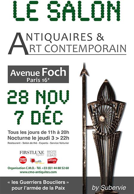 Salon de paris 16e antiquaires et art contemporain for Salon art contemporain paris