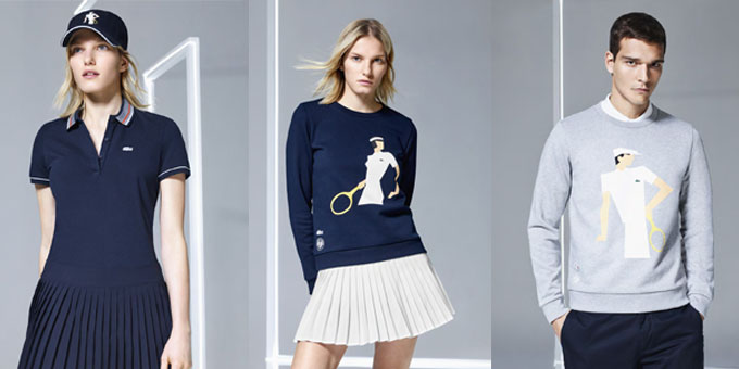 Lacoste collection Roland Garros
