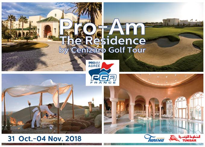 Pro-Am The Residence Tunis 2018 du 31 Octobre au 4 Novembre 2018
