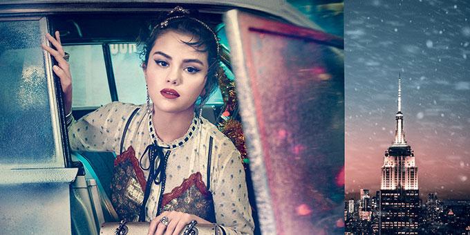 """Coach présente sa campagne de Noël """"lights, camera, holiday"""" avec Selena Gomez"""
