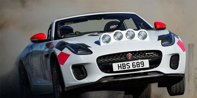 Jaguar presente des F-TYPE de rallye pour célébrer les 70 ans de sportive de la marque