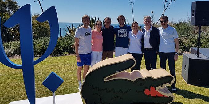 Lancement officiel à Da Balaia du programme « Esprit de famille », en partenariat avec Lacoste et en présence notamment des golfeuses Gwladys Nocera et Justine Dreher
