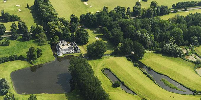 Vue aérienne du golf Nampont Saint-Martin