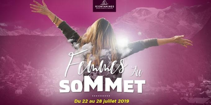 Femmes au Sommet / les Contamines-Montjoie célèbre les femmes du 22 au 28 juillet 2019