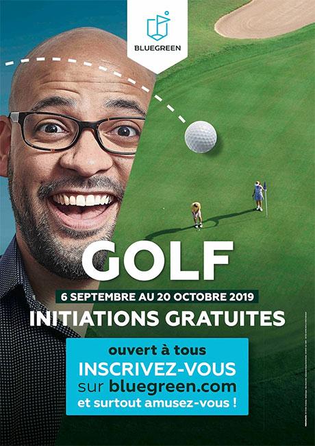 Bluegreen : des initiations gratuites, pour (re)découvrir le golf !