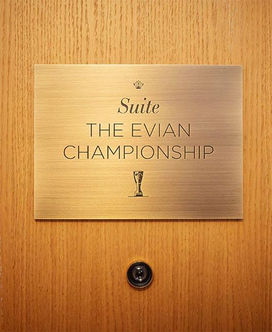 L'Hôtel Royal Evian inaugure sa nouvelle suite personnalisée « The Evian Championship »