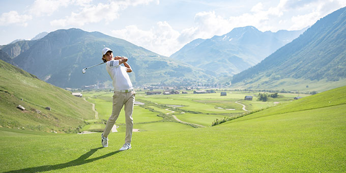 Andermatt, un golf qui épate
