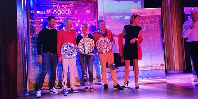 L'équipe d'Arnaud Delbos, victorieuse en net