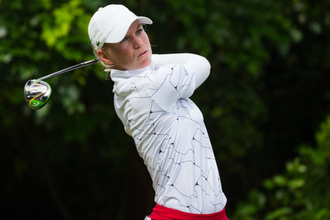 Camille Chevalier of France during the second round