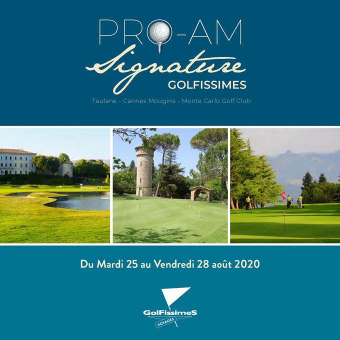 Pro-Am signature Golfissimes 2020