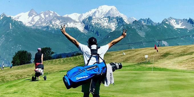Aux Arcs, swinguez face au Mont Blanc !
